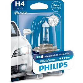 PHILIPS  H4 WhiteVision 60/55W, patice P43t-38